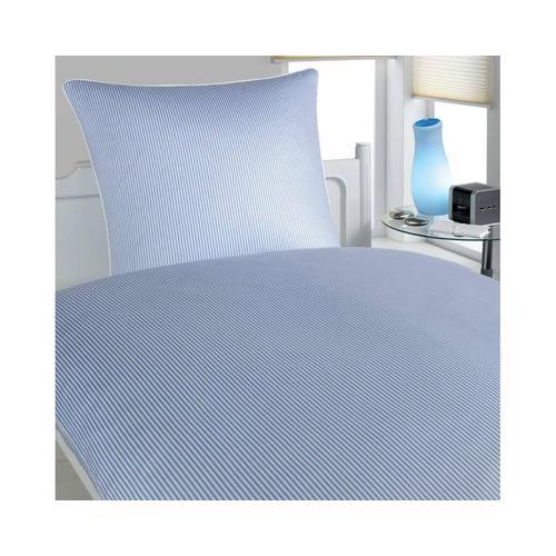 Elegante Mako-Satin »Hamburger Streifen« Blau-Weiß 2460-02 Kissen