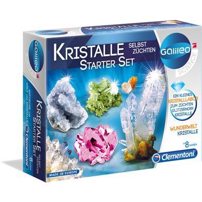 Clementoni Experimentierkasten Galileo Kristalle selbst züchten, Starter-Set, Made in Europe mehrfarbig Kinder Ab 6-8 Jahren Altersempfehlung
