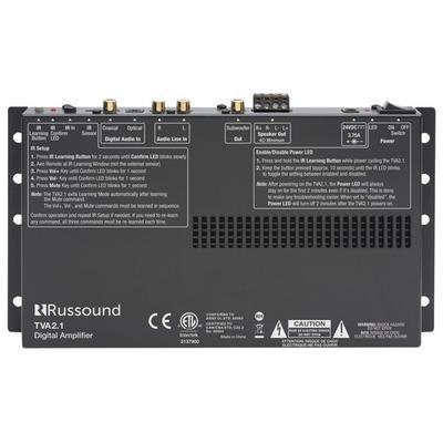 Russound 70W 2-Ch. TV Amplifier - Black - TVA-2.1