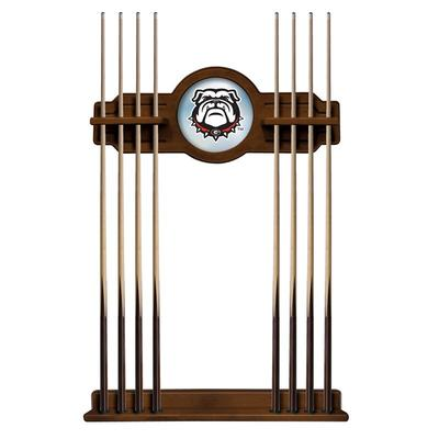 Georgia Bulldogs Mascot Logo Eight Stick Pool Cue Rack - Chardonnay