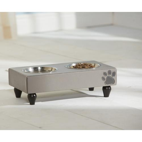 Hunde Katzen Feeder Chevron - Fressnapf mit 2 Schalen - KaHu Pet Furniture