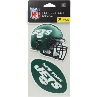 """New York Jets 2-Pack 4'' x Die-Cut Decals"""
