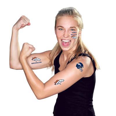 """""""WinCraft Denver Broncos Temporary Tattoos"""""""
