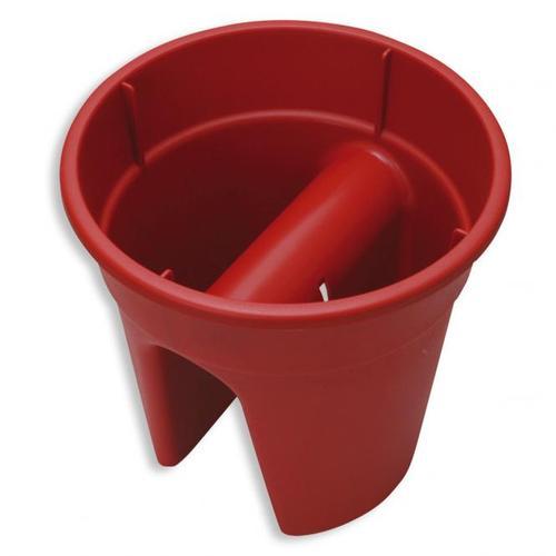 Geländertopf Flowerclip, 27 cm, rot