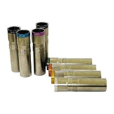 """""""Mobilchoke Victory Extended 12 Gauge Choke Tube Extended Long 25mm Silver w Color Bands Improved"""""""