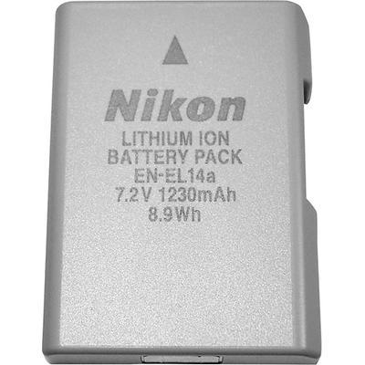 Nikon EN-EL14a Rechargeable Lithium-Ion Battery - Silver