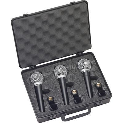 Samson Vocal Microphone (3-Pack) - Black/Silver - R21 3 pack