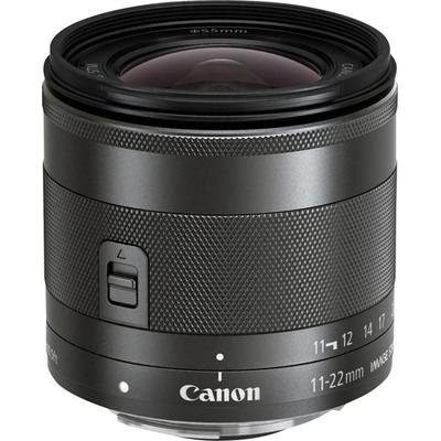 Canon EF-M 11-22mm f/4-5.6 IS STM Ultra-Wide Angle Zoom Lens - Black - 7568B002