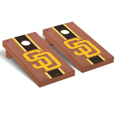 """San Diego Padres 2' x 4' Rosewood Cornhole Board Set"""
