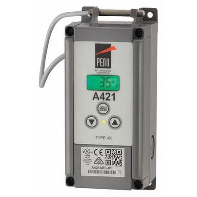 JOHNSON CONTROLS A421AEC-01C Electronic Temperature Control, Open/Close on