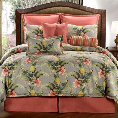 Polly Island Comforter Set Eucalyptus, Twin, Eucalyptus