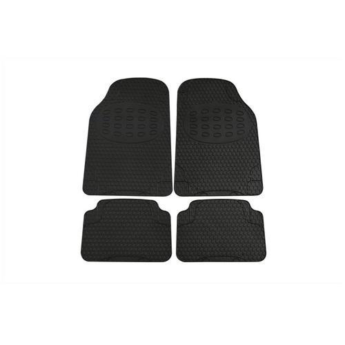 Uni-Fußmatte Alaska Gummi / Schwarz 4-teilig | Petex