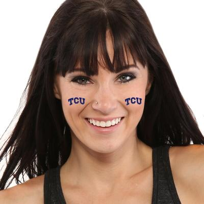 """TCU Horned Frogs 8-Piece Value Pack Waterless Face Tattoos"""