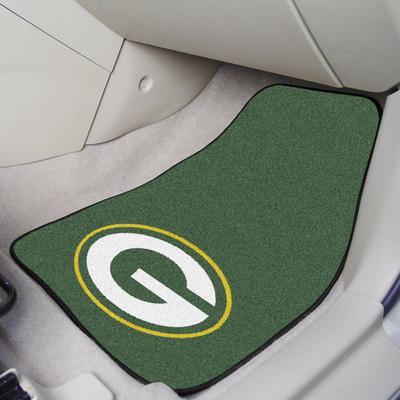 Green Bay Packers 2-Piece Carpet Car Mat Set