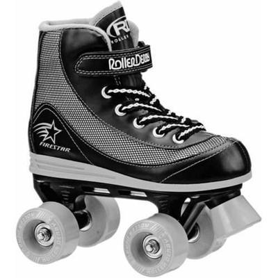 Roller Derby Boys' FireStar Quad Roller Skates, Black/Grey