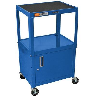 Luxor Luxor Steel Adjustable Height A/V Cart with Cabinet