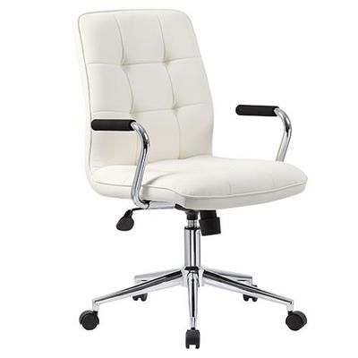 Boss Office Products White Modern Task Chair with Arms