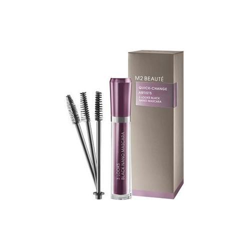 M2 BEAUTÉ Make-up Augen 3 Looks Black Nano Mascara 6 ml