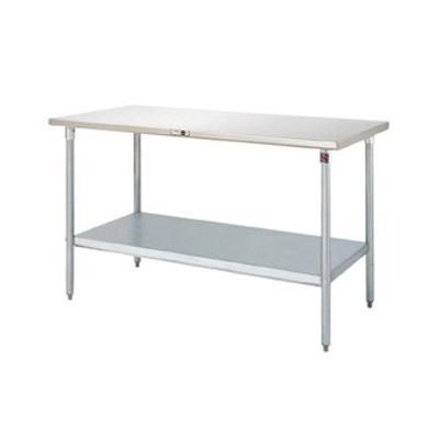 John Boos ST6-2460SSK 16-Gauge Stainless Steel-Top Work Table