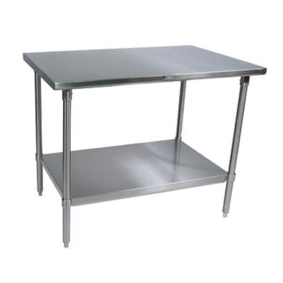 """John Boos Work Table, 36""""w X 30""""d, 14/300 Stainless Steel Flat Top"""