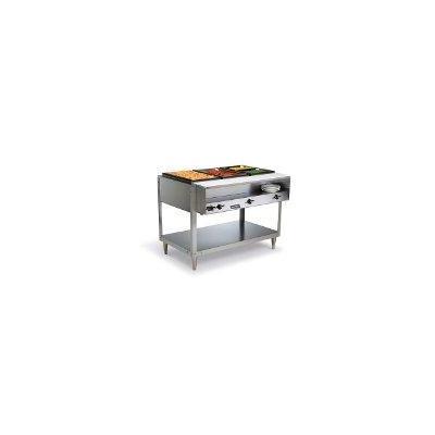 Vollrath 38003 ServeWell 300 Stainless Steel 3-Wells Hot Food Table, 1440-Watts