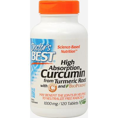Doctor's Best High Absorption Curcumin 1000 mg with Bioperine 5 mg-120 Tablets