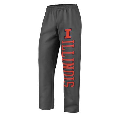 """Fanatics Branded Illinois Fighting Illini Charcoal Sideblocker Fleece Pants"""