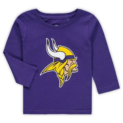 """Minnesota Vikings Toddler Team Logo Long Sleeve T-Shirt - Purple"""