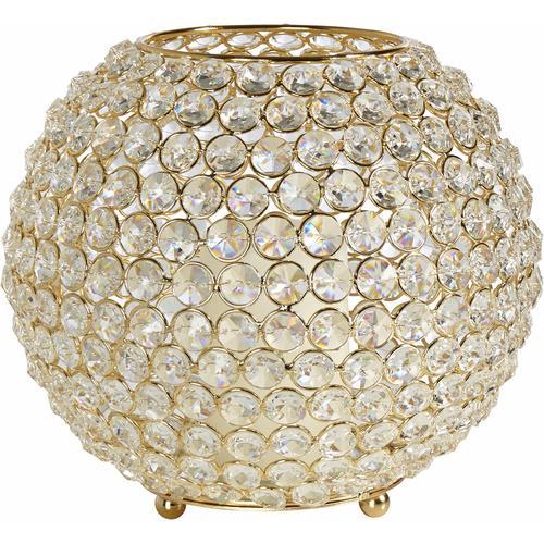 Home affaire Windlicht Kristall goldfarben Kerzenhalter Kerzen Laternen Wohnaccessoires