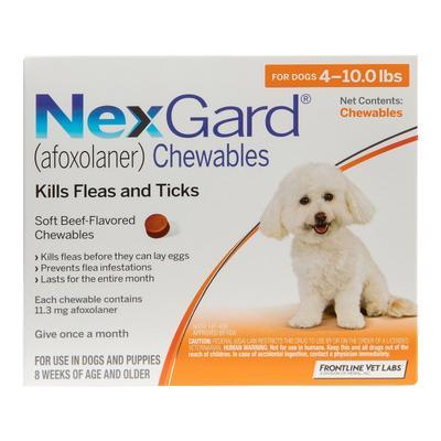 Nexgard For Small Dogs 4-10lbs (Orange) 11mg 12 Chews