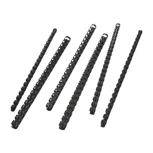 Plastikbinderücken Ø 12 mm schwarz, GBC