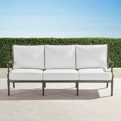 Carlisle Sofa with Cushions in Slate Finish - Rain Indigo , Custom Sunbrella Rain, Special Order - Frontgate
