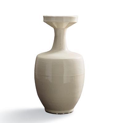 Blanc de Chine Shaped Vase - Fro...