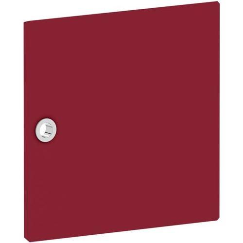 Tür für Regal »System 4« schmal rot, viasit, 37.5x37.5x1.5 cm