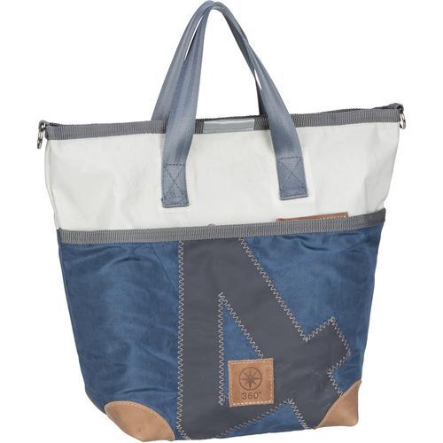 360Grad Handtasche Deern Mini Blau/Weiß mit grauer Zahl (10 Liter)