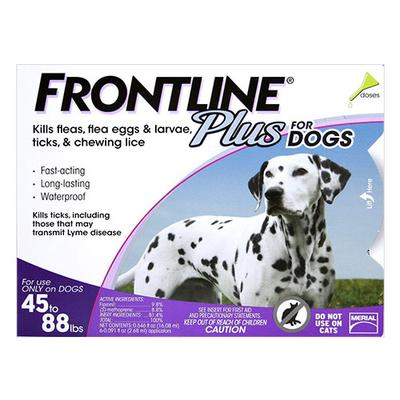 Frontline Plus For Large Dogs 20 To 40 Kg (Purple) 6 Pipettes