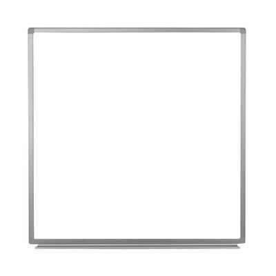 """Luxor WB4848W 48"""" Square Wall-Mounted Whiteboard w/ Aluminum Frame"""