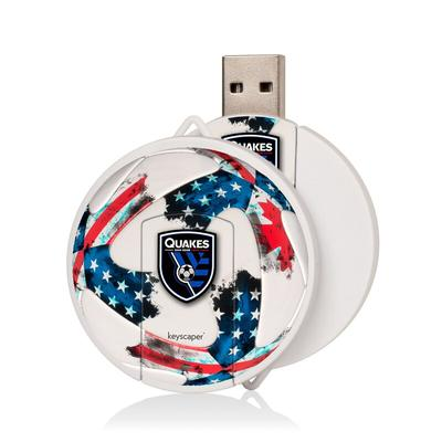 """San Jose Earthquakes 8GB Round White USB Drive"""