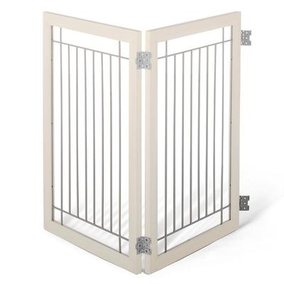 Luxury Two-panel Hardwood Pet Gate Extension - Distressed Grey - Frontgate