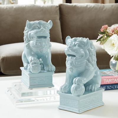 Set of 2 Foo Dogs Spa - Ballard Designs