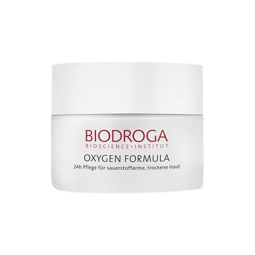 Biodroga Gesichtspflege Oxygen Formula 24h Pflege für sauerstoffarme, trockene Haut 50 ml