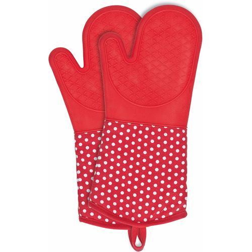 WENKO Topfhandschuhe, (Set, 2 tlg.), aus Silikon rot Topfhandschuhe Topflappen und Topfhandschuh Kochen Backen Haushaltswaren