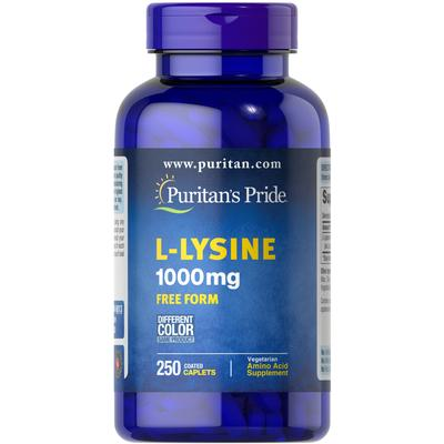 Puritan's Pride L-Lysine 1000 mg-250 Caplets