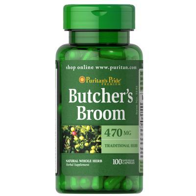 Puritan's Pride Butcher's Broom 470 mg-100 Capsules