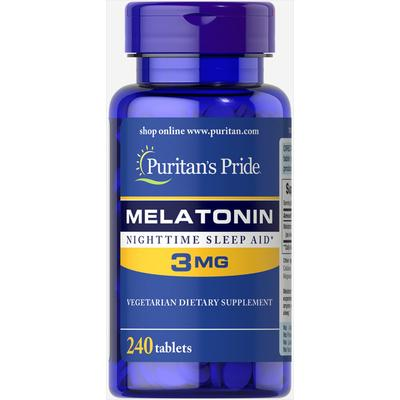 Puritan's Pride Melatonin 3 mg-240 Tablets