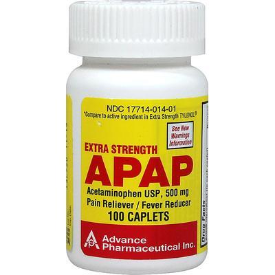 Advanced Pharmaceutical Inc. Acetaminophen 500 mg-100 Caplets