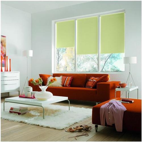 Seitenzug-Rollo mit Lichtschutz grün, OTTO Office, 82x180 cm
