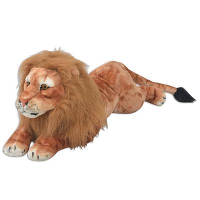vidaXL Lion en peluche Marron XXL