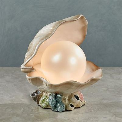 Clamshell Accent Lamp Ivory , Ivory