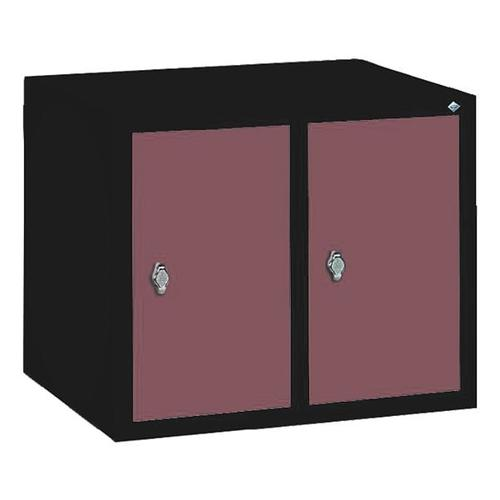 Garderobenschrank rot, CP, 61x50x50 cm